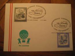 Linz 1980 Chemieolympiade Olympics Austria Cancel Card Chemical Chemistry Chemist Science - Chemistry