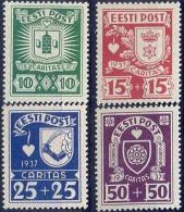 EE 1937-127-30 WAPEN, ESTONIA, 1 X 4v, MNH - Heraldik, Wappen