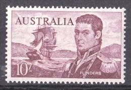 Australia 1963 Navigators 10/- Flinders Cream Paper MNH - 1952-65 Elizabeth II : Pre-Decimals