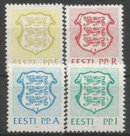 EE 1992-165-173 ARMS, ESTONIA, 1 X 4v, MNHMNH - Briefmarken
