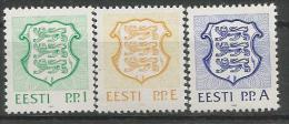 EE 1992-183-5  ARMS, ESTONIA, 1 X 3v, MNHMNH - Briefmarken