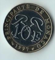 ** 10 FRANCS MONACO 1997 ** - Monaco