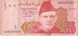BILLETE DE PAKISTAN DE 100 RUPIAS DEL AÑO 2012 (BANKNOTE-BANK NOTE) - Pakistán
