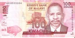 BILLETE DE MALAWI DE 100 KWACHA DEL AÑO 2013 (BANKNOTE) PEZ-FISH - Malawi