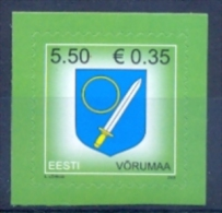 EE 2008-625 DEFINITIVE COAT OF ARMS , ESTONIA, 1v, MNH - Briefmarken