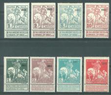 BELGIQUE - 1911 - MH/* -  CARITAS SURCHARGE 1911- COB 92-99 - Lot 10148 - 92 IS MNH/**