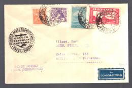 BRESIL 1934 Lettre  Rio De Janeiro Pour Recife Pernambuco Via Condor Zeppelin - Airmail (Private Companies)