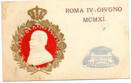 CARTOLINA D 'EPOCA  INAUGURAZIONE MONUMENTO A V. EMANUELE IL 4 GIUGNO 1911 DETTO ANCHE VITTORIANO RARA!! - Inaugurazioni