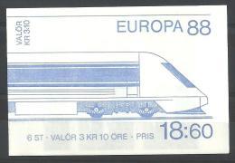 THEMAN EUROPA ZWEDEN CARNET 1478 Xx ( YVERT ) COTE : 9 EURO (A) - 1988