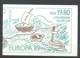THEMAN EUROPA ZWEDEN CARNET 1522 Xx ( YVERT ) COTE : 8.25 EURO (A) - Europa-CEPT