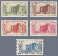 MARTINIQUE, SERIE N°170 A 174, NEUFS SANS CHARNIERE, ANNEE 1939, ANNIVERSAIRE REVOLUTION FRANCAISE - 1939 150e Anniversaire De La Révolution Française