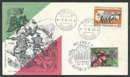 1968-72 ITALIA FDC FILAGRANO VITTORIA ALPINI NO TIMBRO ARRIVO - EDG16 - F.D.C.