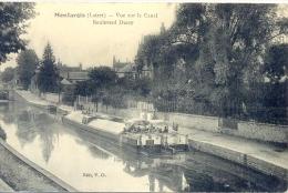 CPA MONTARGIS - VUE SUR LE CANAL - BOULEVARD DURZY - Montargis