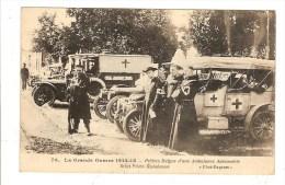 BELGIQUE - GUERRE 1914 15 - PRETRES BELGES D'UNE AMBULANCE AUTOMOBILE - BELLE ANIMATION - Belgique