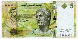 TUNISIA 5 DINARS 2013 Pick 95 Unc - Tusesië