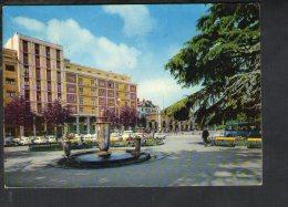 L2991 Cartolina Di Novi Ligure ( Alessandria ) Piazza Della Repubblica Con Auto Fiat, Cars, Voitures, Bus, Autobus - Italië