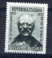 MC 1952 Mancini Nuovo Con Traccia Di  Linguella MLH * - 1946-.. République