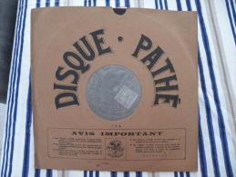 Disque Pathé Saphir 90 à 100 Tour,29cm - 4767 & 4768, Ma Bergère - Le Pâtre Des Montagnes - 78 T - Disques Pour Gramophone