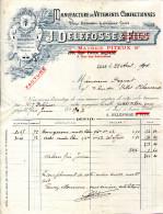 59.NORD.LILLE.MANUFACTURE DE VETEMENTS CONFECTIONNES.J.DELFOSSE 3 RUE DES SAHUTEAUX. - Textile & Vestimentaire