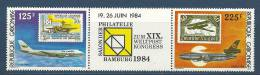 "Gabon YT 552A Triptyque ""  Hamburg 84, Avions "" 1984 Neuf ** - Gabon (1960-...)"