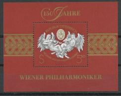 ÖSTERREICH  - Mi.Nr.    2054 -    Block  11 -     Postfrisch   150 Jahre Wiener Philharmoniker - Blocks & Kleinbögen