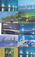 Lot 10 Telecartes Japon Japan Pont Bridge Brücke Brug - Phonecards (pont 2) (au Plus Rapide) - Autres