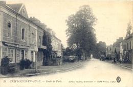 CPA CREVECOEUR EN AUGE - ROUTE DE PARIS - France