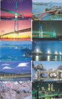 Lot 10 Telecartes Japon Japan Pont Bridge Brücke Brug - Phonecards (pont 4) (au Plus Rapide) - Phonecards