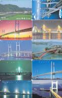 Lot 10 Telecartes Japon Japan Pont Bridge Brücke Brug - Phonecards (pont 5) (au Plus Rapide) - Phonecards