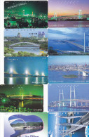 Lot 10 Telecartes Japon Japan Pont Bridge Brücke Brug - Phonecards (pont 6) (au Plus Rapide) - Telefonkarten