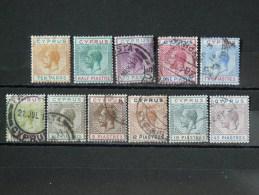 CHYPRE 1912 Série N° 56/66 O / * (B - Rare En Série Complète - Voir Scan) - Cyprus (Republic)