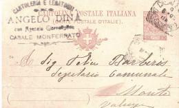 CP CENT.10 MILL.04 CARTOLERIA ANGELO DINA CASALE MONFERRATO - 1900-44 Vittorio Emanuele III