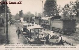 GRANDS PRIX DE L'A.C.F. CIRCUIT DE TOURAINE TRAINS GARE DE ST-ANTOINE DU ROCHER DRAISIENNES LOCOMOTIVE AUTOMOBILE CAR - Cartes Postales