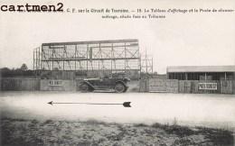 GRANDS PRIX DE L'A.C.F. CIRCUIT DE TOURAINE TABLEAU D'AFFICHAGE ET POSTE DE CHRONOMETRAGE AUTOMOBILE CAR VOITURE SPORT - Cartes Postales
