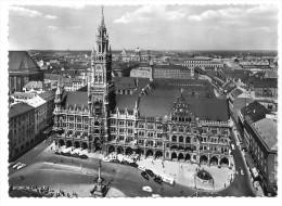 München, Rathaus Mit Oldtimer, 1961. Normalformat - Muenchen