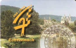 TARJETA DE LUXEMBURGO DE UNA MONEDA (MONEDA.-COIN) - Sellos & Monedas