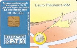 TARJETA DE LUXEMBURGO DE UNA MONEDA DE EURO (MONEDA.-COIN) - Sellos & Monedas