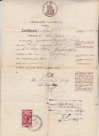 PAPIER TIMBRE ITALIE DE 1929 -CERTIFICAT CASIER JUDICIAIRE - - Altri
