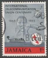 Jamaica. 1965 ITU Centenary. 1/- Used. SG 247 - Jamaica (1962-...)