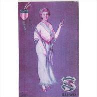 EUDTP0777-LFD3948TMO.TARJETA POSTAL DE ESTADOS UNIDOS(USA) Mujer MODA ANTIGUA.ILLINOIS - Moda