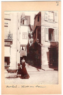 Dépt 29 - MORLAIX - Photographie Collée Sur Carton D´origine, 1904 - Venelle Au Son - Landau - Photo - Morlaix