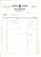 YVETOT AGENCE CITOEN RENE LETHUILLIER 1961 - Automobilismo
