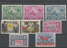 LIBERIA : **, PA, N°50/2+59/60+64/6, TB - Liberia
