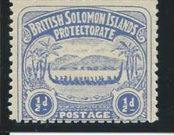 SALOMON :** N°1, Lég. Altération Gomme, B/TB - Salomoninseln (Salomonen 1978-...)