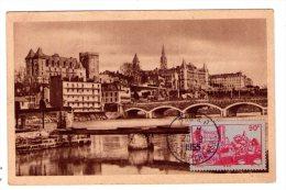 Timbre  N° 449 ( Chateau De Pau )  Sur Carte   - Correspondance Entre Carte Et Timbre -