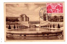 Timbre  N° 818 ( Palais De Chaillot    )  Sur Carte   - Correspondance Entre Carte Et Timbre -