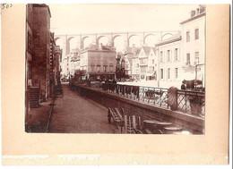 Dépt 29 - MORLAIX - Photographie Collée Sur Carton D´origine, 1904 - Lucas Draperies Et Nouveautés - Viaduc - Photo - Morlaix