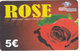 GREECE - Rose, Best Telecom Prepaid Card 5 Euro(matt Surface), Used - Greece