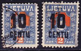 Litauen Lithuania Lituanie -  Aufdruck Neuer Wert (MiNr:  1922- Gest. Used Obl. X + Y - Lithuania