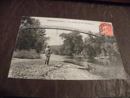 A188..CPA..30...BAGNOLS..La Passerelle De Carmignan....rare Beau Plan Animé....ecrite & Voyagée 1926 - Bagnols-sur-Cèze